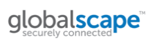 Globalscape's current logo, introduced in 2012.